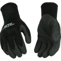 WARM GRIP THERMAL KNIT SHELL AND LATEX PALM GLOVE