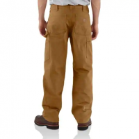 WASHED-DUCK DOUBLE-FRONT WORK DUNGAREE