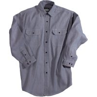 HICKORY STRIPE LOGGER BUTTON FRONT SHIRT