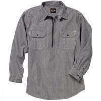 HICKORY STRIPE LOGGER ZIP FRONT SHIRT