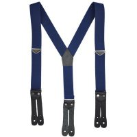 Y-BACK FLAT LEATHER END 1 1/2″ SUSPENDERS