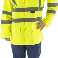 HIGH VISIBILITY WATERPROOF RAIN JACKET