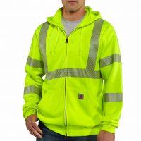 HIGH-VISIBILITY ZIP-FRONT CLASS 3 SWEATSHIRT