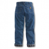 RELAXED-FIT STRAIGHT LEG FLANNEL LINED JEAN