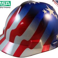 MSA V-GARD AMERICAN STARS AND STRIPES HARD HAT