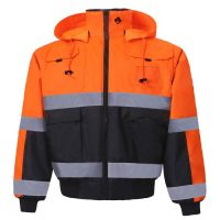 HIGH VIZ REVERSIBLE BOMBER JACKET