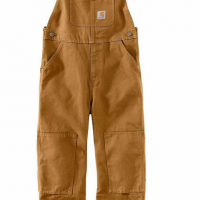 BOYS DUCK WASHED BIB OVERALL