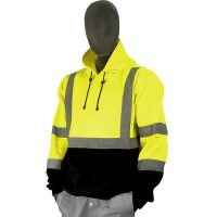 HIGH VISIBILITY HOODED PULLOVER SWEATSHIRT
