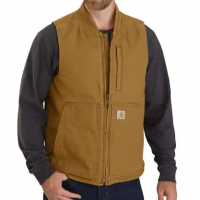 WASHED DUCK INSULATED RIB COLLAR VEST