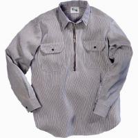 Key L/S Hickory Stripe Zip Shirt