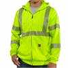 Carhartt Hi-Viz Class 3 Zip-Front Sweatshirt