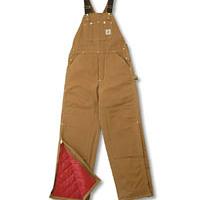 Carhartt Quilt Lined Duck Bib Overall