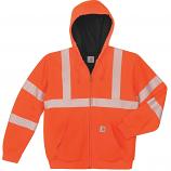 Carhartt Hi-Viz Class 3 Thermal-Lined Zip-Front Sweatshirt